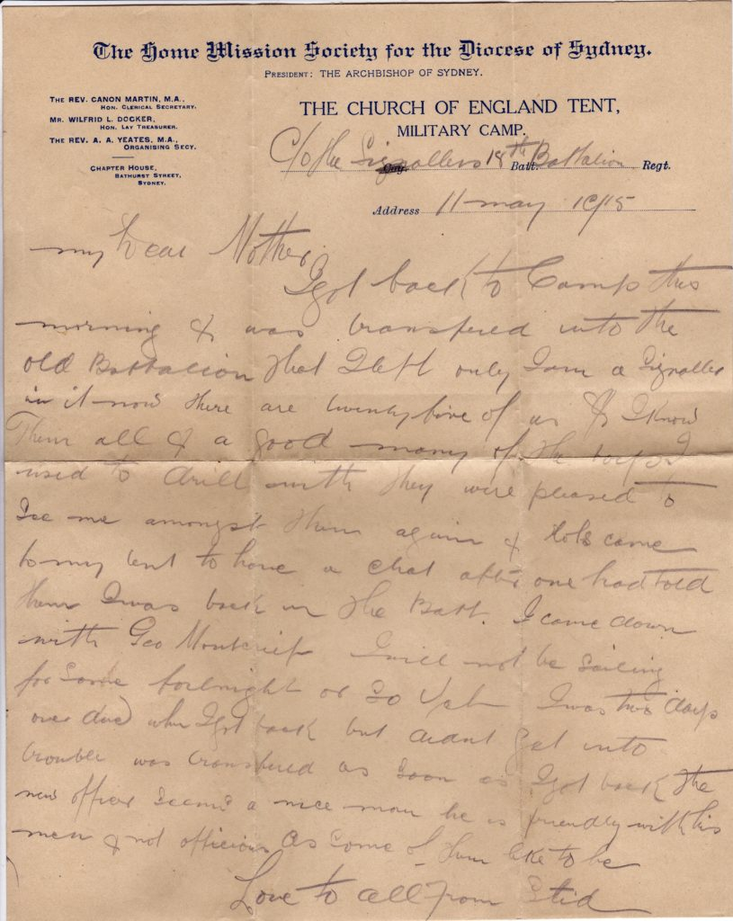 Letter from Liverpool