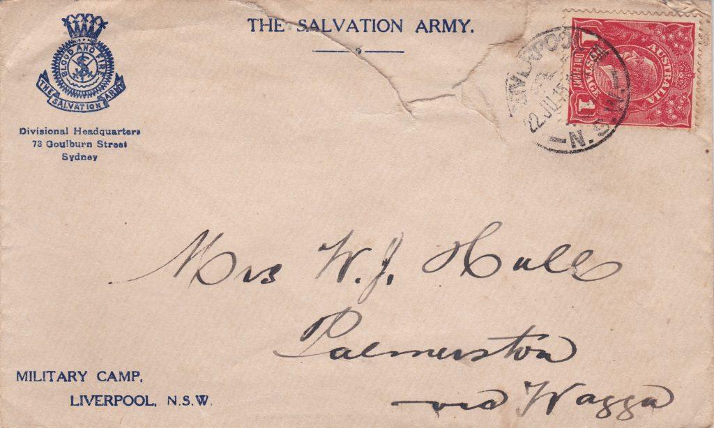 Salvation Army envelope
