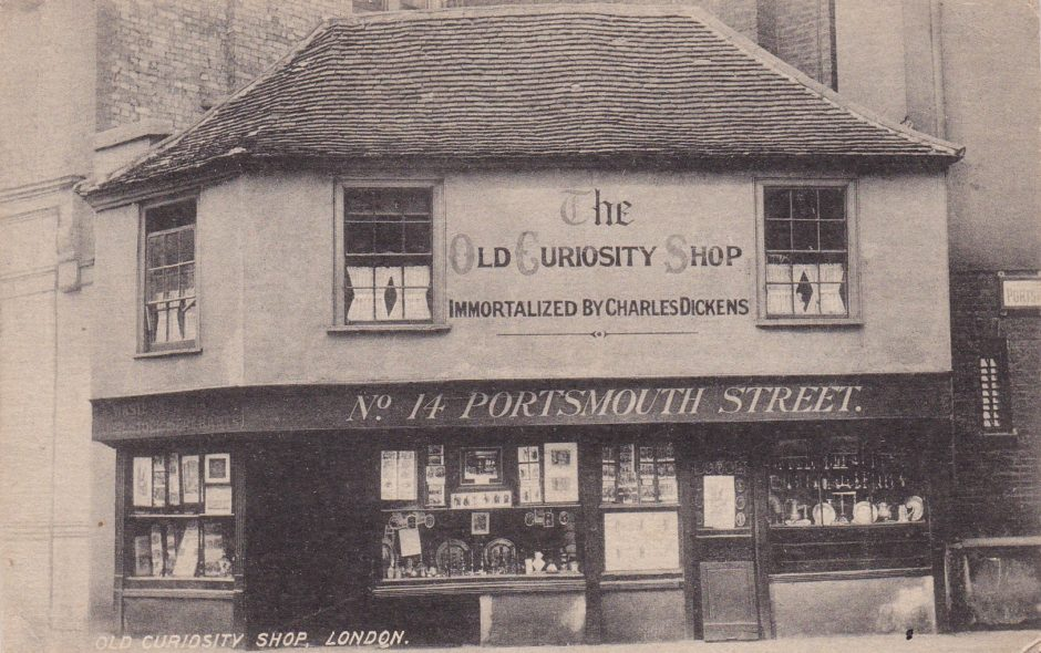 The Old Curiosity Shop Postcard 29 Sept 1917