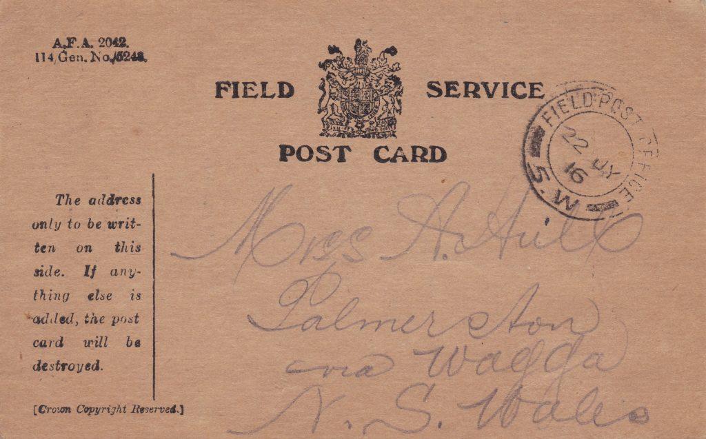 Field Service Post Card